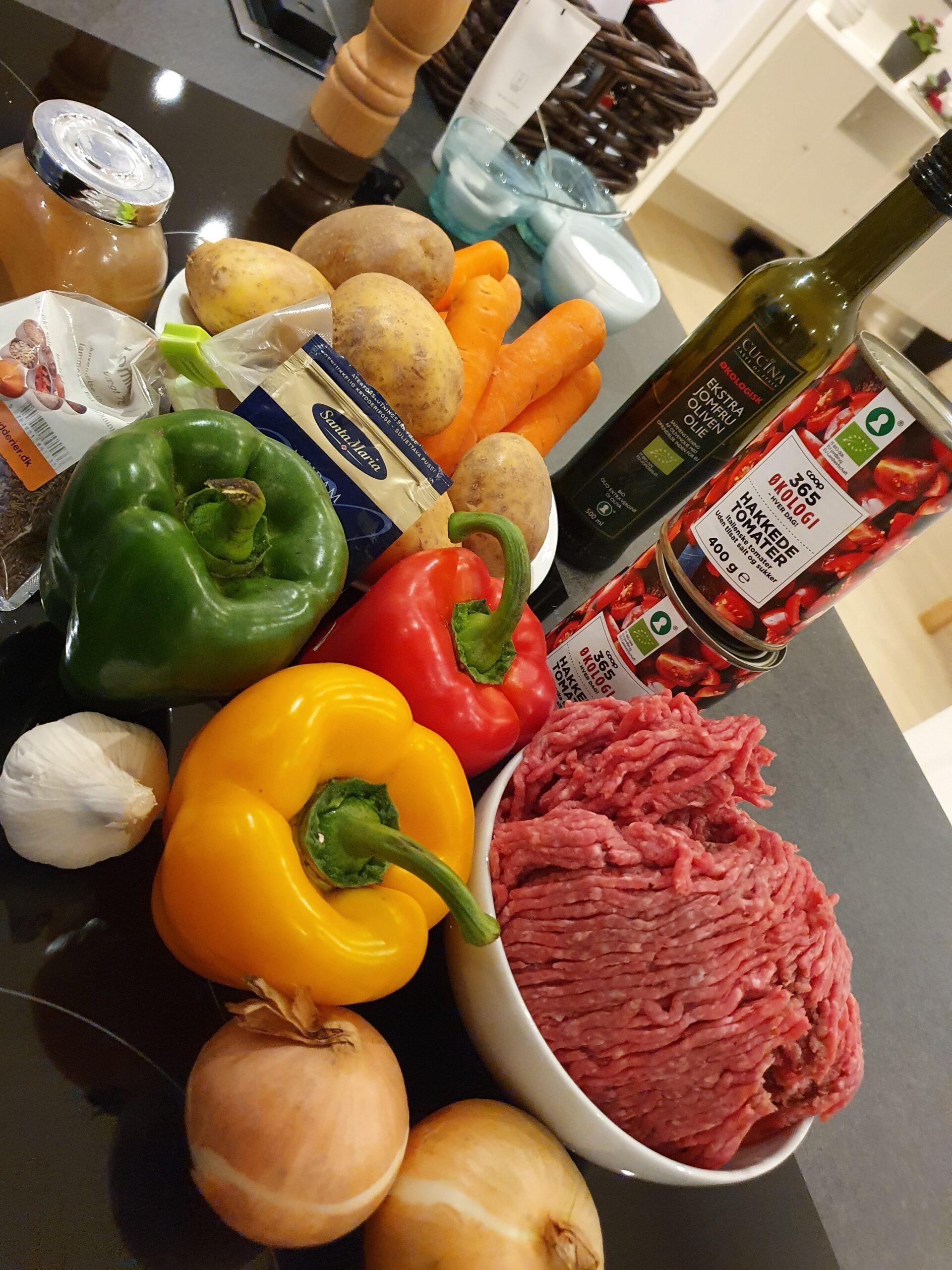 Ingredienser til Ungarsk Gullashsuppe